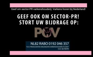 POV haalt 105.000 euro op voor sector-pr