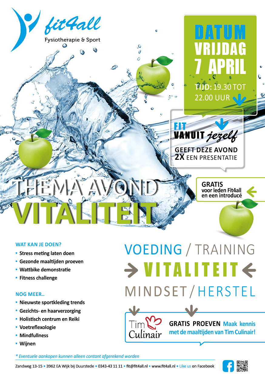 Vitaliteitsavond 7 april 19.30-22.00