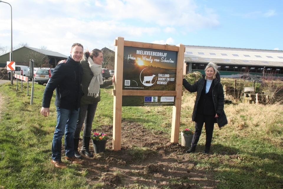 Grote belangstelling voor onthulling eerste Salland Boert en Eet Bewust bord in gemeente Zwolle