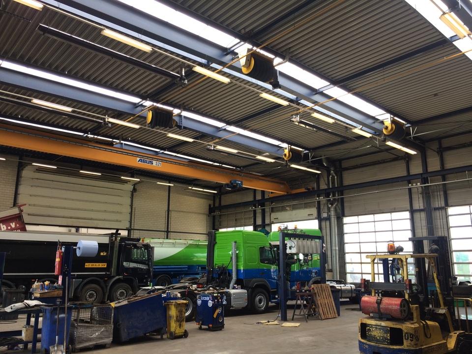 Lichtstraten vervangen Van Ginkel Trucks Utrecht