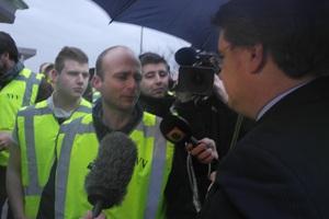 NVV protestactie bij Provinciehuis Brabant geslaagd