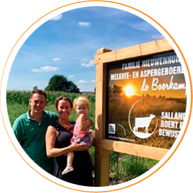 Melkvee- & aspergebedrijf De Boerkamp, familie Nieuwenhuis