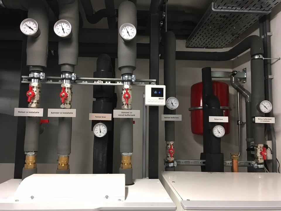 Warmtepompinstallatie te Naarden