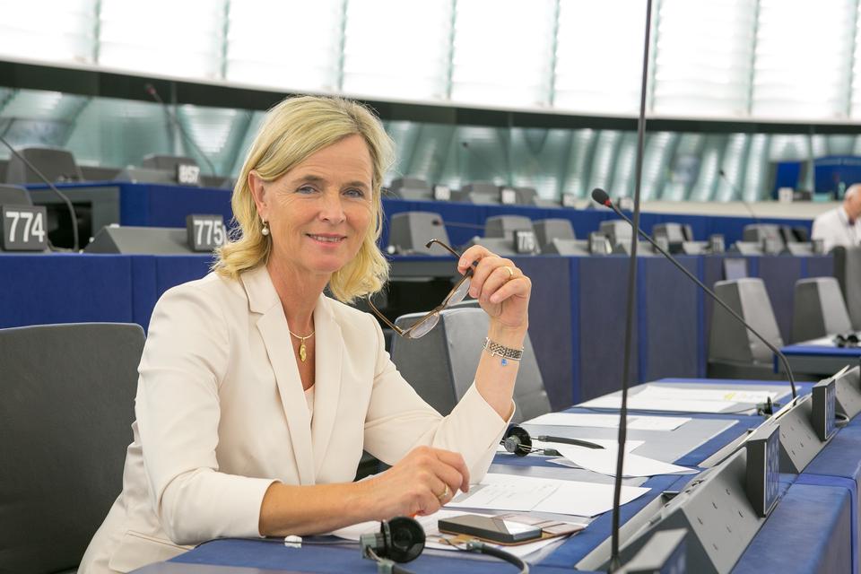 Eerste bordonthulling in gemeente Zwolle door Europarlementariër Annie Schreijer - Pierik