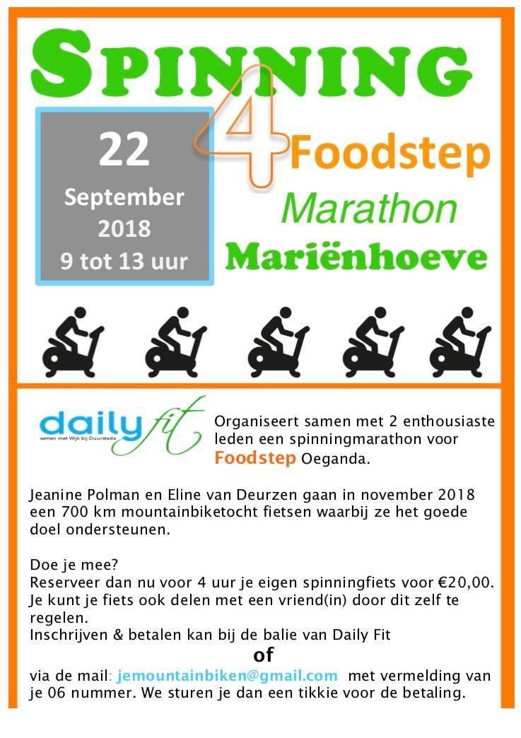 Spinning Marathon 4 Foodstep