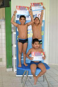 Foto's afzwemmen juni staan online