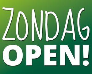 Zondag geopend!