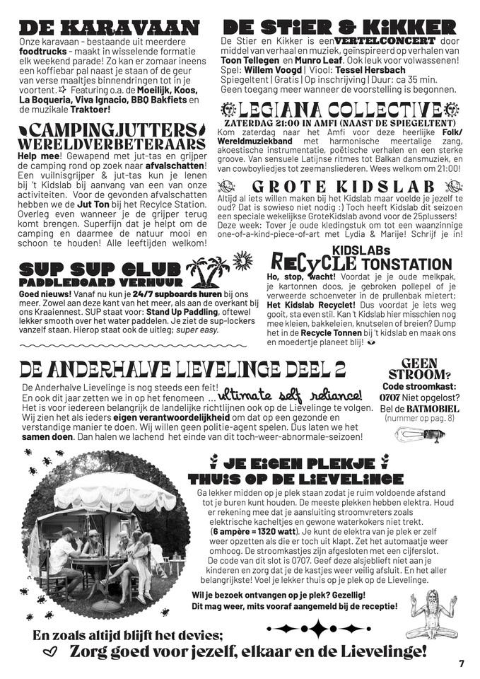 Newsflash camping de Lievelinge
