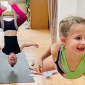 Kinder aerial yoga (...