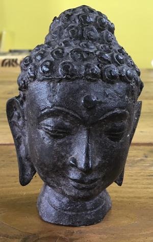 Boeddha hoofd metaal