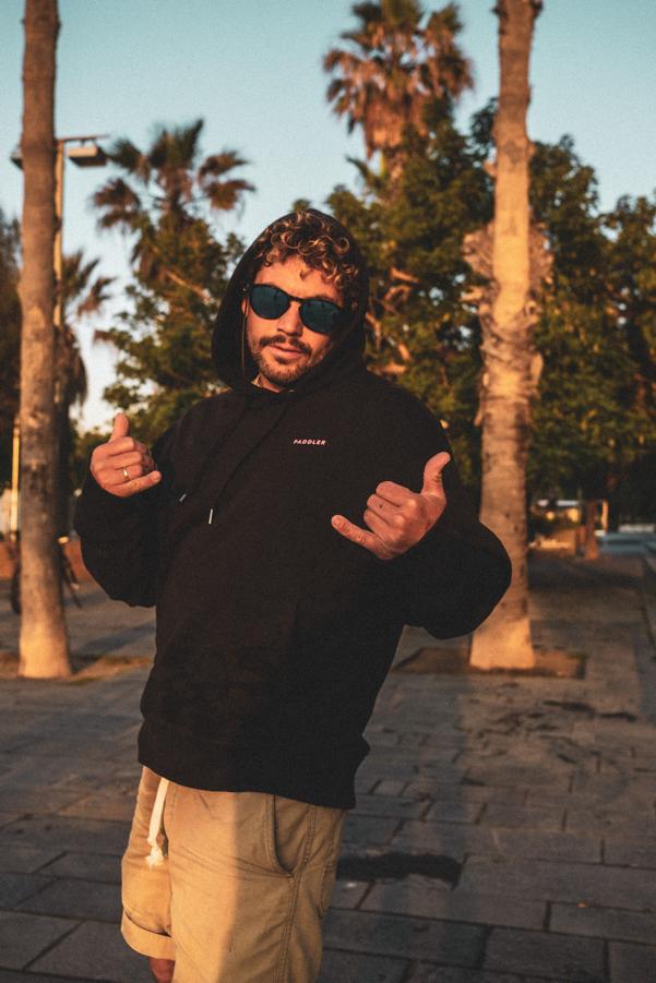 PADDLER Black hoodie